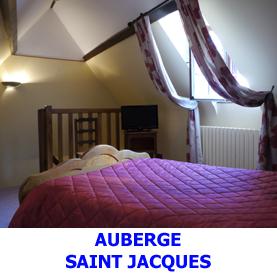 Sur le chemin de Saint Jacques de Compostelle, l'Auberge Saint Jacques offre le gite et le couvert aux pèlerins en chemin sur la voie du Puy.