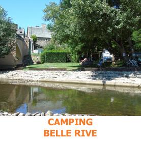 Le camping Belle Rive, est idéalement placé sur les berges du Lot. Il acceuille les pèlerins du Saint Jaques de Compostelle