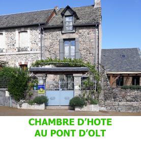 La chambre d'Hôte, au pont d'olt, Est une jolie chambres d'hôtes qui acceuille a Saint Côme d'Olt, les pèlerins en chemin vers Saint Jacques de Compostelle