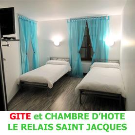 Le relais Saint Jacques à Saint Chély d'Aubrac, accueille les pèlerins en partance vers Compostelle en formule chambres d'hôte ou gite.