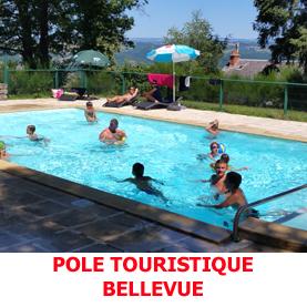 Avec sa piscine, le pole touristique de Bellevue à Golinhac est une véritable lieu de détente pour les pèlerins faisant le chemin de Saint Jacques de Compostelle