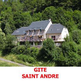 A l'entrée de Saint Chémy d'Aubrac, le gite Saint André est en bordure du GR65. Les pèlerins du Saint Jacques de Compostelle le trouveront aisément.