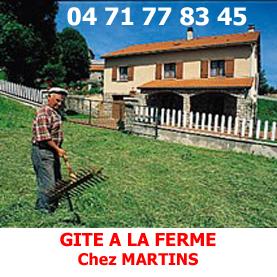 Accueil traditionnel et rural au fite d'étape à la Ferme, Chez Mme Martin à Saugues.