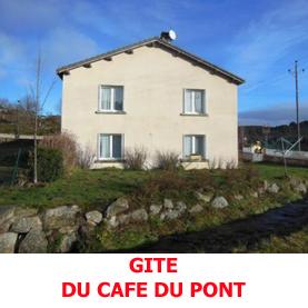 Légèrement excentré sur chemin de Saint Jacques de Compostelle, le gite du café du Pont reçoit les pèlerins lors de la traversée de la Margeride.