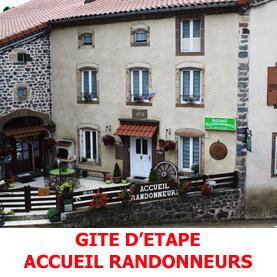 Gite d'étapes sur le Saint Jacques Compostelles à Saugues. L'Accueuil Randonneurs recoit les pèlerins sur la via Podiensis