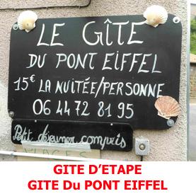 Dans la plus pure tradition du Saint Jacques de Compostelle, le gite du Pont Eiffel à Monistrol d'Allier acueille les pèlerins.