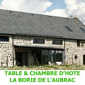 Peu avant Nasbinals, à côté du chemin de Saint Jacques de Compostelle, la Borie de l'Aubrac est un lieu rêvé pour les pèlerins.