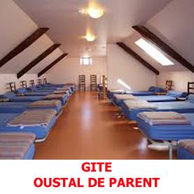 L'Oustal de Parent, légèrement excentré du chemin de Saint Jacques de compostelle offre l'hospitalité aux pèlerins, aussi bien en gite d'étape qu'en formule hôteliière.