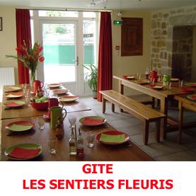 Le gite les Sentiers Fleuris, en plein centre d'Aumont Aubrac, reçoit les pèlerins du Saint Jacques de Compostelle, dans un accueil chaleureux