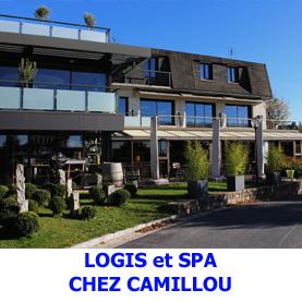 A Aumont Aubrac, sur le chemin de Saint Jacques de Compostelle le logis et spa Chez Camollou est idéal pour se relaxer et se restaurer après une belle journée de marche.