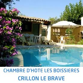 Chambres d'hôte Les Boissières Crillon Le Brave