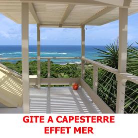 Gite avec vue mer sur la commune de Capesterre à Marie-Galante